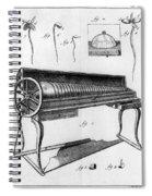Franklin: Armonica, 1761 Spiral Notebook