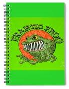 Frantic Frog Spiral Notebook