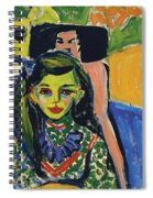 Franzi In Front Of Carved Chair Spiral Notebook