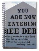 Free Derry Corner, Republican Political Spiral Notebook