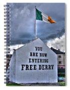Free Derry Wall Spiral Notebook