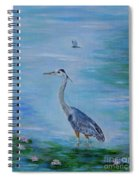 Free Spirit Blue Heron Spiral Notebook