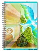Free Spirit Dreamscape - Within Border Spiral Notebook