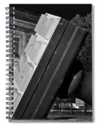Free Stamp In Black And White Spiral Notebook