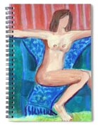 Dare To Be Bare In A Big Green Chair Spiral Notebook