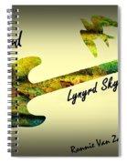 Freebird Lynyrd Skynyrd Ronnie Van Zant Spiral Notebook