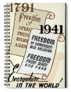 Freedom Everywhere In The World Spiral Notebook