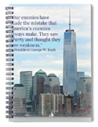 Freedom On The Rise Spiral Notebook