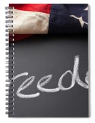 Freedom Sign On Chalkboard Spiral Notebook