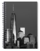 Freedom Tower Glow Bw Spiral Notebook