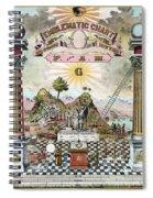 Freemason Emblematic Chart Spiral Notebook