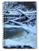 Freezing Dam Spiral Notebook