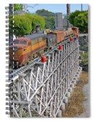 Freight Train Bridge Crossing Spiral Notebook