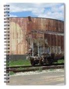 Freight Train Cars 4 Spiral Notebook
