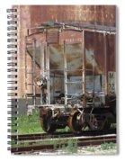 Freight Train Wheels 12 Spiral Notebook