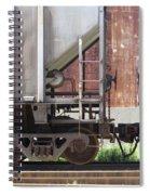 Freight Train Wheels 16 Spiral Notebook