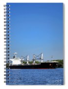 Freighter On River Spiral Notebook