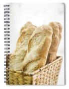 French Baguette In Basket Spiral Notebook