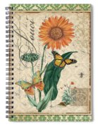 French Botanical Damask-a Spiral Notebook