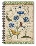French Botanical Damask-b Spiral Notebook
