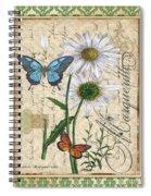 French Botanical Damask-d Spiral Notebook