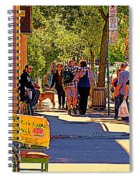French Bread On Laurier Street Montreal Cafe Scene Sunny Corner With Vente De Garage Sign Spiral Notebook