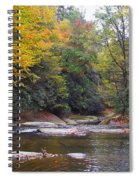 French Broad River In Fall Spiral Notebook