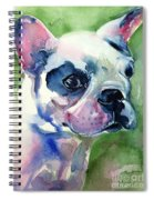 French Bulldog Painting Spiral Notebook