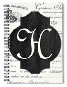 French Champagne Monogram Spiral Notebook