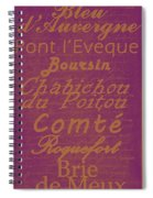 French Cheeses - 3 Spiral Notebook