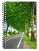 French Country Road Spiral Notebook