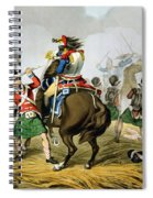 French Cuirassiers At The Battle Spiral Notebook