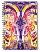 French Curve Abstract Movement V Magic Butterfly  Spiral Notebook