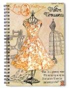 French Dress Shop-c Spiral Notebook