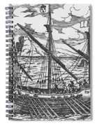 French Galley Operating In The Ports Of The Levant Since Louis Xi  Spiral Notebook