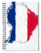 French Guiana Painted Flag Map Spiral Notebook