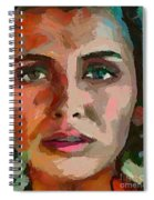 French Gypsy Girl Spiral Notebook