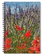 French Lavender Field Spiral Notebook