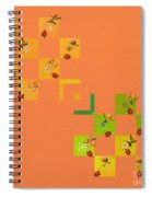 French Lillies Abstract Spiral Notebook