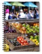 French Market Spiral Notebook