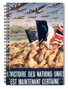 French Propaganda Poster Published In Algeria From World War II 1943 Spiral Notebook