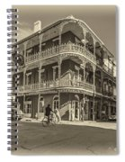 French Quarter Afternoon Sepia Spiral Notebook