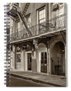 French Quarter Art And Artistry Sepia Spiral Notebook