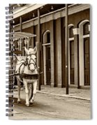 French Quarter Carriage Ride Sepia Spiral Notebook