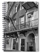 French Quarter Flair Bw Spiral Notebook
