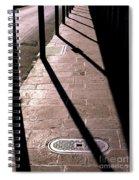 French Quarter Sidewalk Shadows New Orleans Spiral Notebook