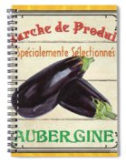 French Vegetable Sign 3 Spiral Notebook