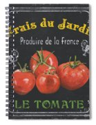 French Vegetables 1 Spiral Notebook