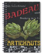 French Veggie Labels 1 Spiral Notebook