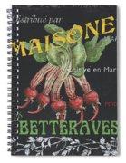 French Veggie Labels 2 Spiral Notebook